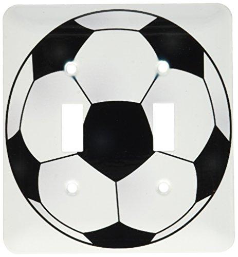 3dRose lsp_165872_2 Soccer Ball Light Switch Cover