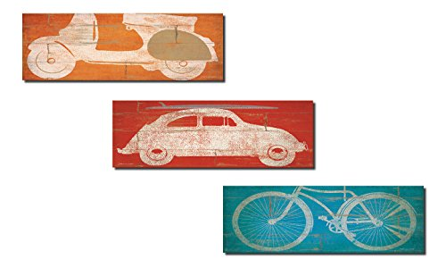 Popular Rustic Bicycle Scooter and Volkswagen Beetle Set;