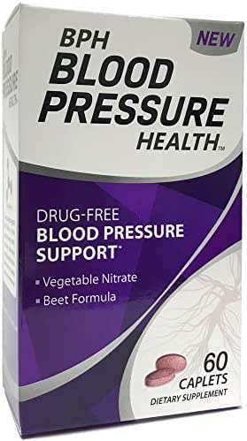 BPH Blood Pressure Health - Dietary Supplement Caplets - 60Count