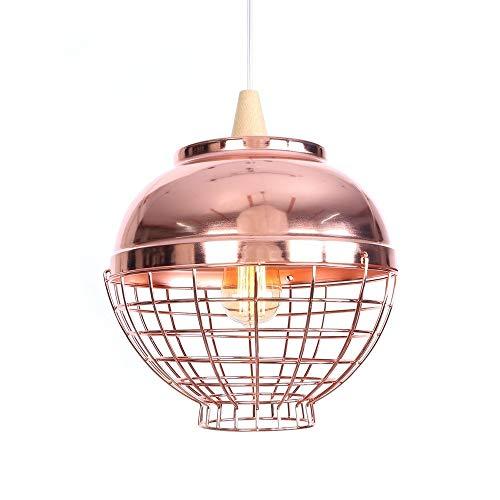 Bright vestibule Creative Chandelier Rose Gold Chrome Metal Ceiling Chandelier European Style Lantern Chandelier (Multi-Size) (Color : B, Size : 40W Tungsten Light) ()