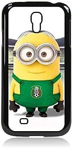 sports minion - Hard Black Plastic Snap - On Case-Galaxy s4 i9500 - Great Quality!