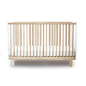 Oeuf Rhea Crib, Birch/White
