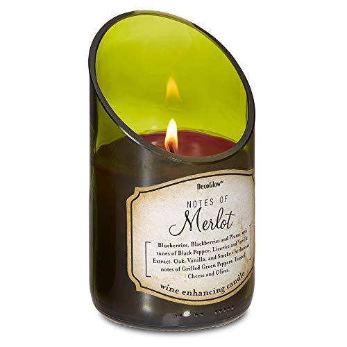Deco Glow CDL5467 Candle, Wine Bottle Merlot ()