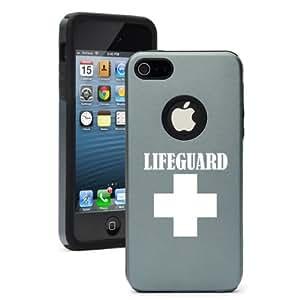 iPhone 5 5s Aluminum & Silicone Hard Case Cover Lifeguard (Silver Gray)