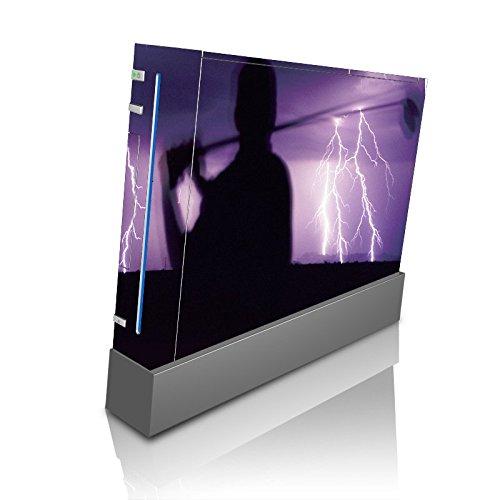 Golf Golfing in Lightning Storm Purple Wii Console Vinyl Decal Sticker Skin by Moonlight Printing