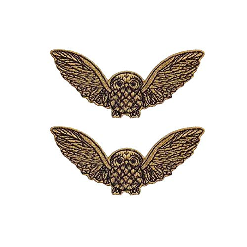Hosaire 1 Pcs Lotus DIY Clothes Patch Stickers Iron On Sew Embroidered Patches Motif Applique Decoration Dress Backpack Jacket Jeans Hats Bag Size 4.5cm10cm (Ethnic Wind Owl) (Jacket Denim Custom)