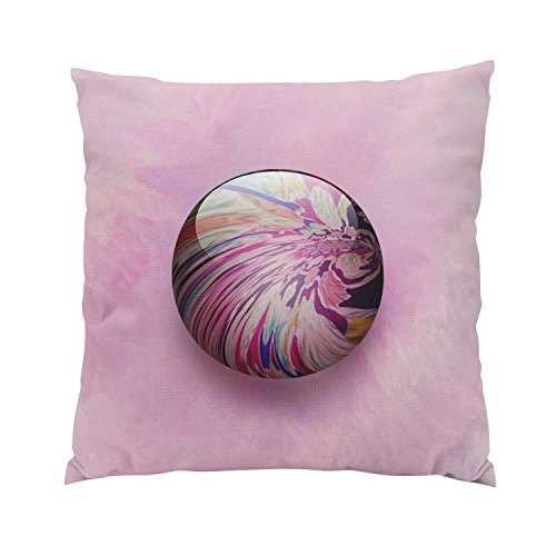 Hahala Modern Abstract Colorful Swirl and Stripe Shiny Marble Hidden Zipper Home Sofa Decorative Throw Pillow Cover Cushion Case Square 16x16 Inch Two Sides Design Printed ()