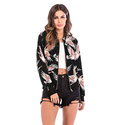 Zipper Femmes Jacket Casual Baseball Vrac Longues Mode En Sport Imprimé Floral Ré Manches Coat rrAv68