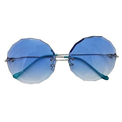 LANZHI Gafas de Sol de Colores sin Marco Recortadas de ...