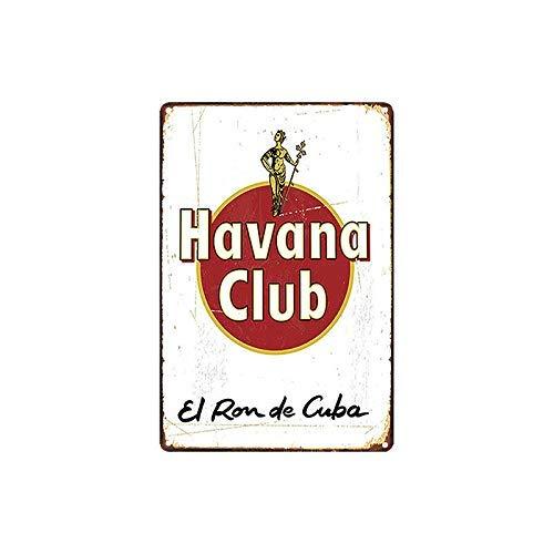 Jeremy Mann New Metal Signs 12 x 8 - Havana Club el Ron de Cuba Chic Art Wall Decort Home Yard Signs Bar Hotel Cafe Pub restauran