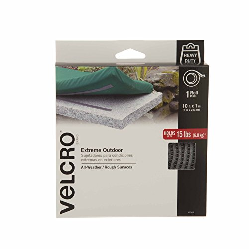 "VELCRO Brand - Extreme Outdoor - Extreme - 1"" Wide Tape, 10' - Titanium (Packaging may vary) from VELCRO Brand"