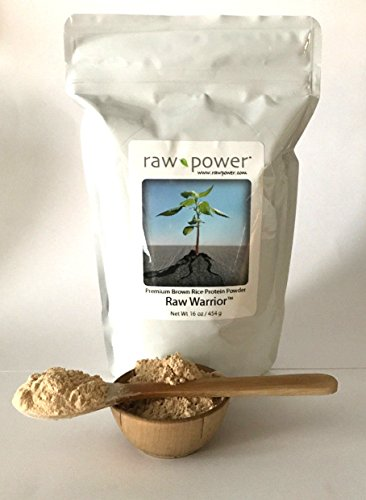 Raw Warrior Brown Rice Protein Powder, Raw Power (16 oz, Premium) (Best Chlorella Brand Based Upon General Review)