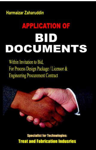 Download Application Of Bid Documents: Terms & Conditions Of Tender pdf epub