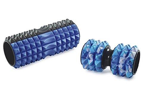 Hoffmanns Grid Foam Roller Set für das professionelle Faszien-Training inklusive Abbildung der Triggerpunkte am Torso