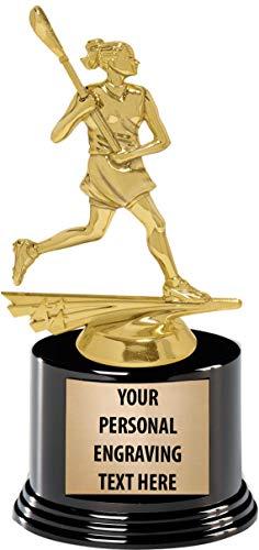 Crown Awards Girls Lacrosse Trophies with Custom Engraving, 7.25