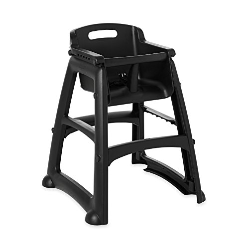 (Rubbermaid Commercial Products Sturdy High-Chair for Child/Baby/Toddler, Unassembled, Black (FG781408BLA))
