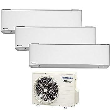 3S TRIO Split raum gerät R32 ETHEREA PANASONIC Klimaanlage WiFi 2,5+2,5+3,2 KW