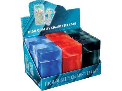 Flip Top Marbled Cigarette Case for 100mm (Box of 12)