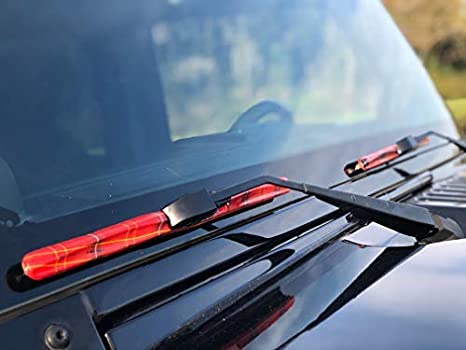 1996-2017 - Fits All Models//All Types,Mystic Ink Series All-Weather Design Set of two 14-Inch Wiper Blades and Clips Clix Wipers for Jeep Wrangler//Unlimited