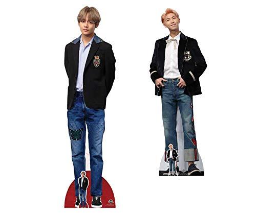 BTS Kpop 178cm Tall STAR CUTOUTS CS784 V Bangtan Boys Kim Tae-Hyung Blazer Lifesize Cardboard Cutouts with Free Mini Cut Out Multicolour