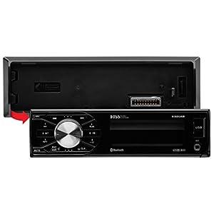 BOSS Audio 632UAB Car Stereo - Single Din, Bluetooth, (No CD/DVD) MP3/USB/WMA AM/FM Radio, Detachable Front Panel