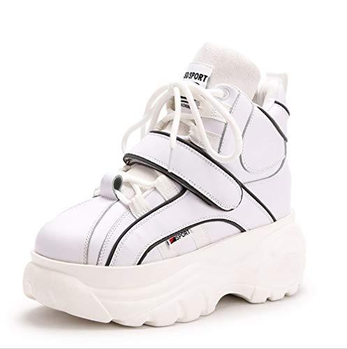 Cm Moda Zapatos Deporte 8 Blanco Zapatillas Las Con Liangxie Plataforma Informal Mujer Cuña De Aumento Bajo Opxw4