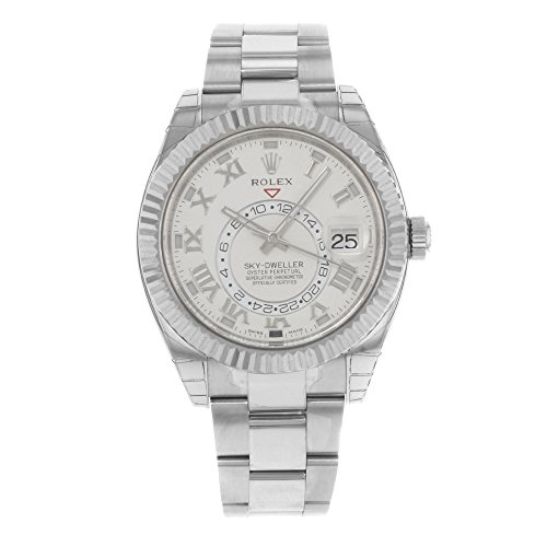 Rolex Oyster Perpetual Sky-Dweller 326939 18K White Automatic Men's Watch
