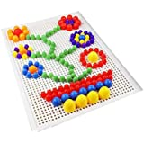 296 pieces Creative Mosaic Nail Puzzle Board Educational Toy