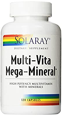 Solaray Multi-Vita Mega-Mineral Multi-Vitamin Capsules, 120 Count
