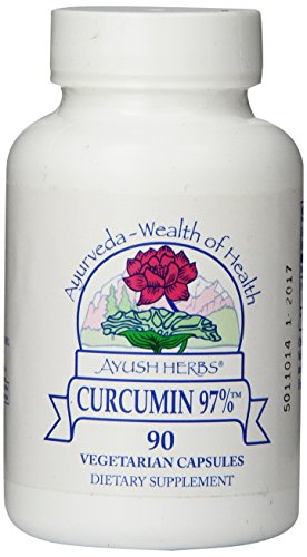 Ayush Herbs Herbal Supplement, Curcumin 97%, 90 Count