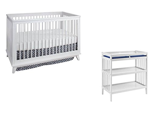 Westwood Echo 3 in 1 Crib and Changer Set, White