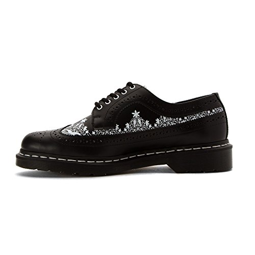 Dr.Martens 3989 Lace Smooth Black White Womens Shoes Black White