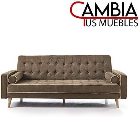 CAMBIA TUS MUEBLES - Sofa Cama Oslo Marron: Amazon.es: Hogar