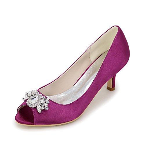 Purple Blanc Et Soirée Sliver Talons Violet Féminins Printemps Strass Talon Rouge yc Eté Automne Soie En L Bleu Stiletto Robe TvqHwzvR