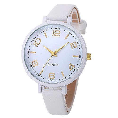 WUAI Women's Fashion Watches Casual Faux Leather Strap Quartz Analog Wrist Watch Under 10 Dollar