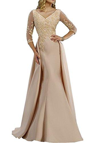Etuikleider Meerjungfrau Langes La Braut Champagner Marie Ballkleider Kleider mit Silber Jugendweihe Abendkleider ztqABwq