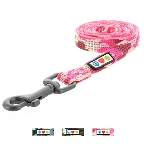 Pawtitas Reflective Leash Puppy Leash Reflective Dog Leash Reflective Dog Training Leash 4 ft Dog Leash Extra Small Dog Leash/Small Dog Leash Pink Camouflage Dog Leash