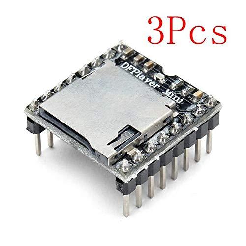 3Pcs DFPlayer Mini MP3 Player Module For - Arduino Compatible SCM & DIY Kits Module Board - 3 x DFPlayer Mini MP3 Player Module For Arduino ()