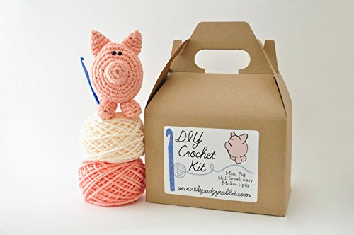 DIY Beginner Crochet Kit (Pig) by The Pudgy Rabbit