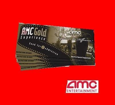 10 AMC MOVIE THEATRE GOLD TICKETS