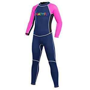 Neopreno Wetsuits para niños, niñas, cremallera trasera traje de ...