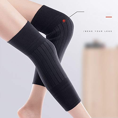 TY BEI Kneepad Kneepad - Cashmere Protection Knee Warm Men and Women Winter Thickening Old Man Cold Leggings Paint wear Joints self-Heating @@ (Color : Black) by TY BEI (Image #5)