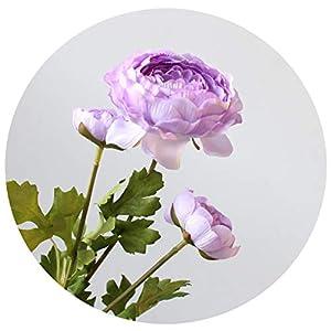 3Pcs/Lot 3-Head Nice Ranunculus Silk Flower Artificial Flowers Wedding Home Party Decoration 62