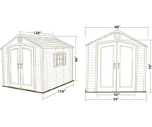 081483064055 - Lifetime 6405 Outdoor Storage Shed with Window, Skylights, and Shelving, 8 by 10 Feet carousel main 7