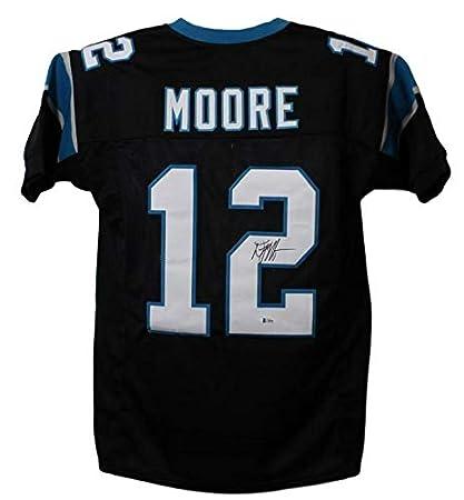 reputable site 6ddf6 f0016 DJ Moore Autographed/Signed Carolina Panthers XL Black ...