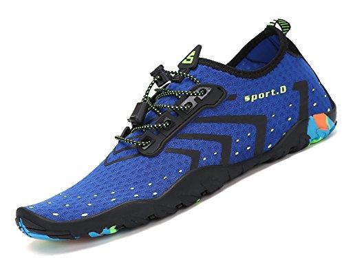 Cycling Escarpines azul Buceo De Calzado Mujer Mar Surf Aqua Agua Natación Para Hombre Playa Vela Río Acuáticos Snorkel Piscina Zapatos Deportes Cordones TA7q17