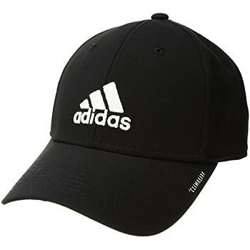 dcb1fcb8 adidas Men's Gameday Stretch Fit Structured Cap, Black/White, Small/Medium