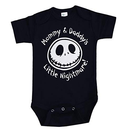 Nightmare Before Christmas Baby Clothes (Mommy & Daddys Little Nightmare! The Nightmare Before Christmas Jack Skellington Inspired Onepiece Bodysuit!! (6 Months))
