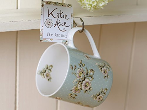 Creative Tops Katie Alice Cottage Flower Floral Fine China Shabby Chic Mug, Green