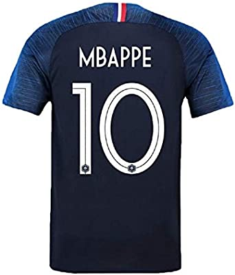 best loved 94a26 07d1d Amazon.com : Mu Dou Zhi Neng Men's Mbappe Jerseys France #10 ...
